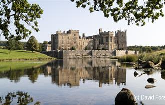 Exterior shot of Raby Castle