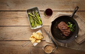 Black Angus Steak at Cast Iron Durham Marriott