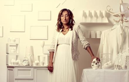 Photo credit to Idil Sukan. Image of Shazia Mirza against a white background
