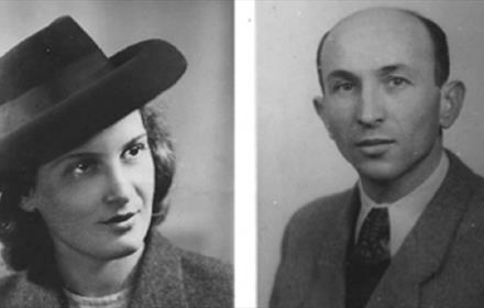Black and White photo of a man and a woman
