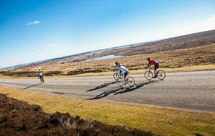 Cyclists enjoying the County Durham Countryside in the sunshine