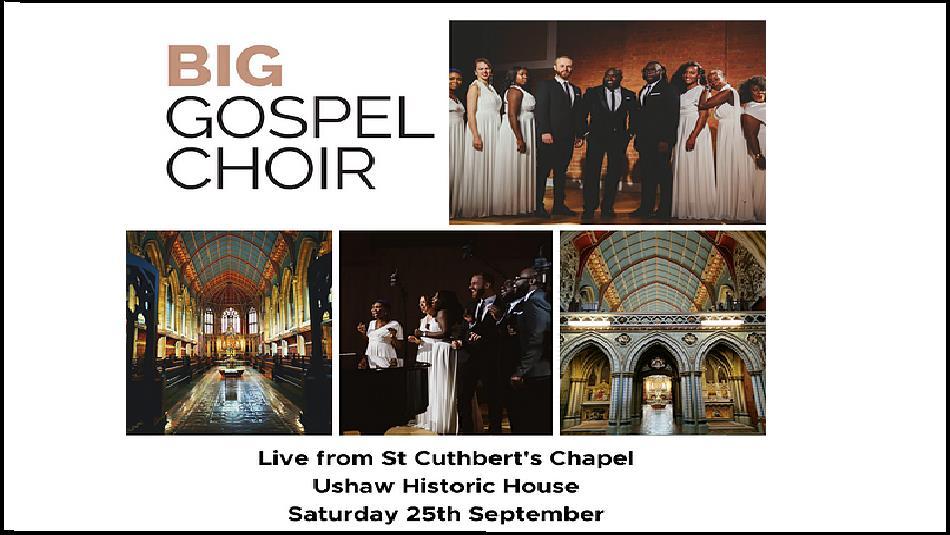 Big Gospel Choir Poster Advertising Event at 25th September 25th 2021