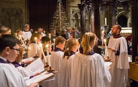 Durham Cathedral Choir sing at a Christmas service