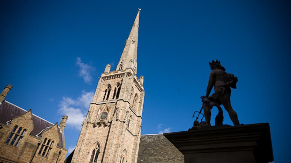 Neptune statue in Durham Market Place