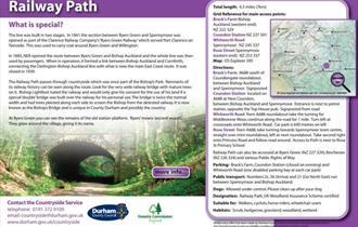 Route description for Auckland Way Railway Path