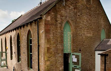 Exterior view of Bowlees Visitor Centre.  Sunny Day.  Converted Chapel.