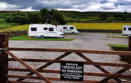 Caravanning at The Crown at Mickleton in the Durham Dales