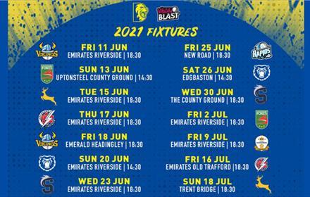 Durham Cricket Fixtures 2021