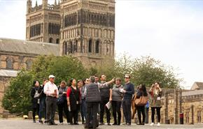Group outside Durham Cathedral