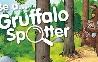 gruffalo trail at hamsterley, children activities county durham. rail and exciting augmented reality app