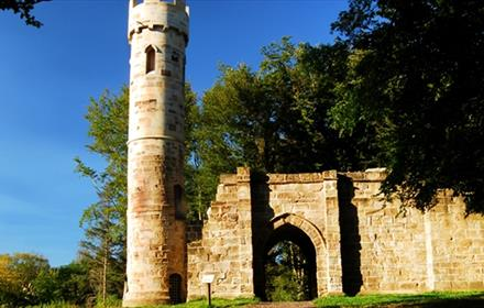 The Gothic Tower at Hardwick Park