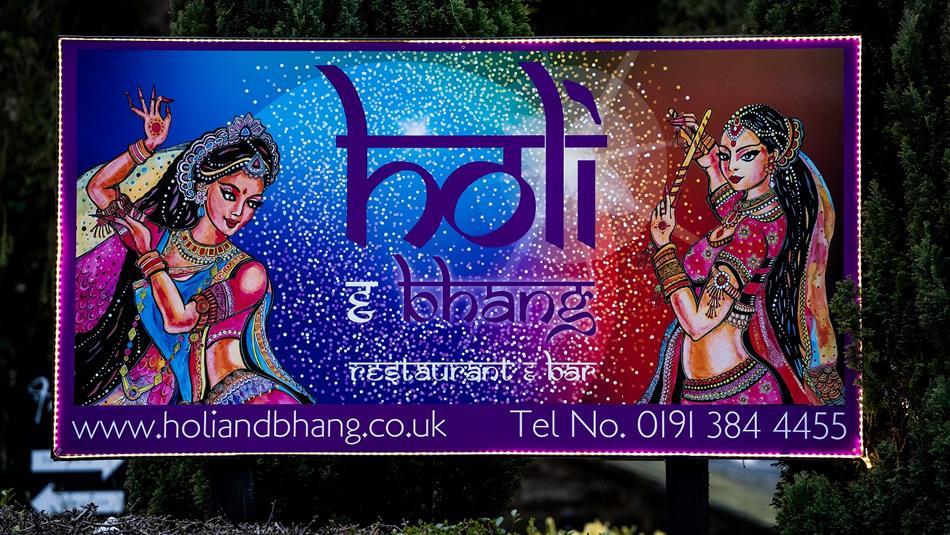 Holi and Bhang Restaurant and Bar Holi and Bhang Restaurant board