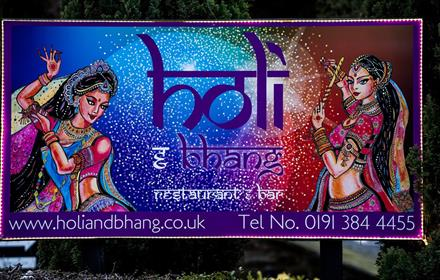 Holi and Bhang Restaurant and Bar Holi and Bhang Restaurant board