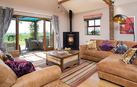 Living room at The Mill Byre self-catering at Ingleton County Durham