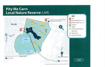 Pity Me Carrs Local Nature Reserve Walk Map