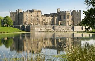 Raby Castle on a sunny, clear day