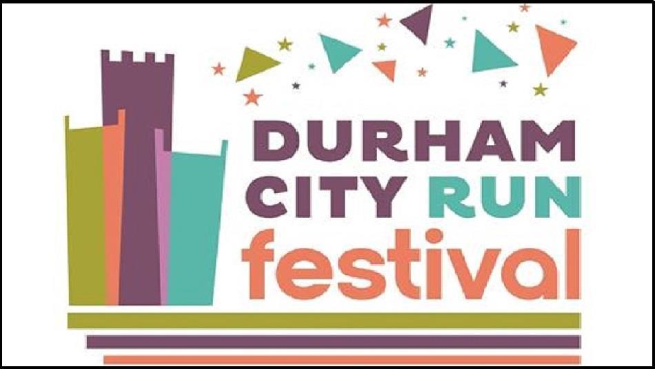Durham City Run Festival 2021 logo. Modern Graphic Image of Durham Cathedral