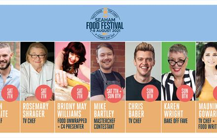 Seaham Food Festival line up of celebrity chefs