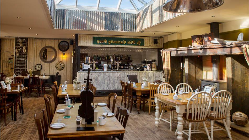 Main restaurant at The South Causey Inn in County Durham.