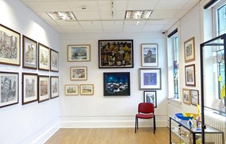 Spennymoor Town Hall Bob Abley Art Gallery