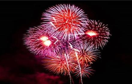 Image of fireworks lighting up the night sky