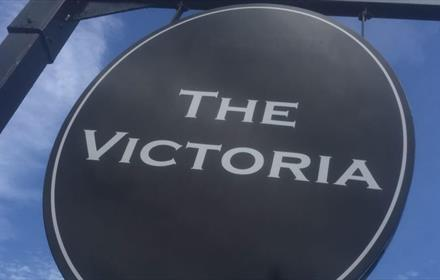 The Victoria pub sign