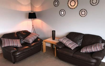 New Durham Courtyard living room