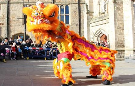 Chinese New Year celebrations in Durham Market Place