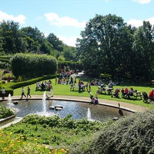 Fountains at Durham University Botanic Garden