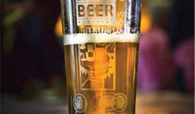 Beer Glass at Eastbourne Beer Festival