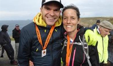 Luretta-and-Jon, Beachy Head Marathon Runners