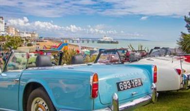 car on display at Eastbourne Magnificent Motors event