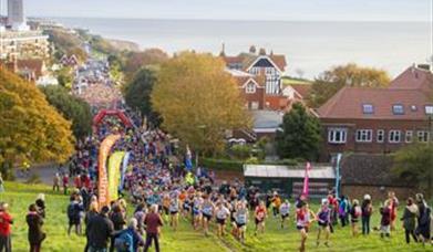 Runners at the Beachy Head Marathon