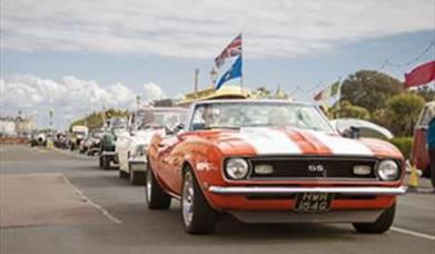 Parade of cars at Eastbourne Magnificent Motors event