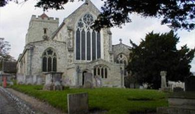exterior of St Mary's Church in Eastbourne