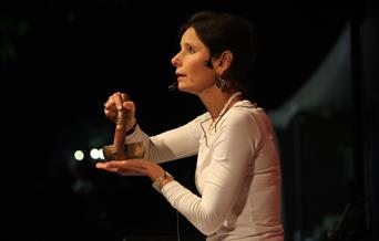 Xanthe Gresham at a storytelling performance