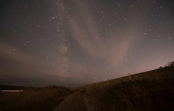 Downland track in night time