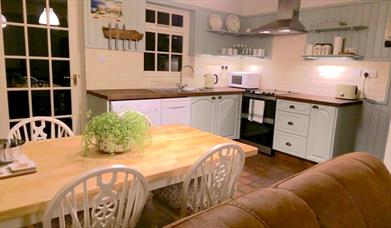 The spacious kitchen at Milliner's Cottage, in East Yorkshire