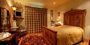A statement bed at The Wolds Village Guest Accommodation in East Yorkshire.