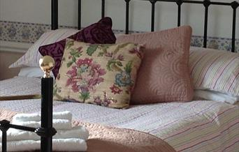 A double bed at Rysome Garth in East Yorkshire.