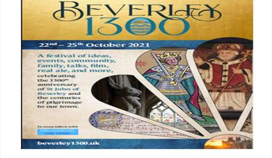 Beverley 1300 poster featuring St Mary's stone rabbit and Henry V
