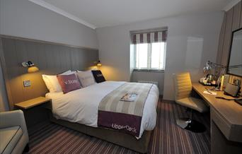 A double bedroom at The Hotel Club, Village, in East Yorkshire.