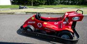 One of the go-carts on the track at Park Rose Caravan and Tents in East Yorkshire.