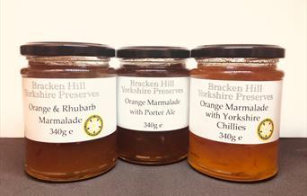 3 jars of Bracken Hill marmalade, in East Yorkshire