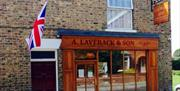 The exterior of A Laverack & Son Butchers and Bakers, in East Yorkshire
