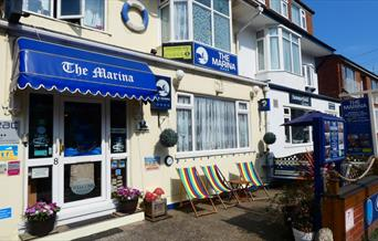 The Exterior of The Marina Guest House in East Yorkshire.