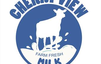 The Cherry View Milk logo, in East Yorkshire