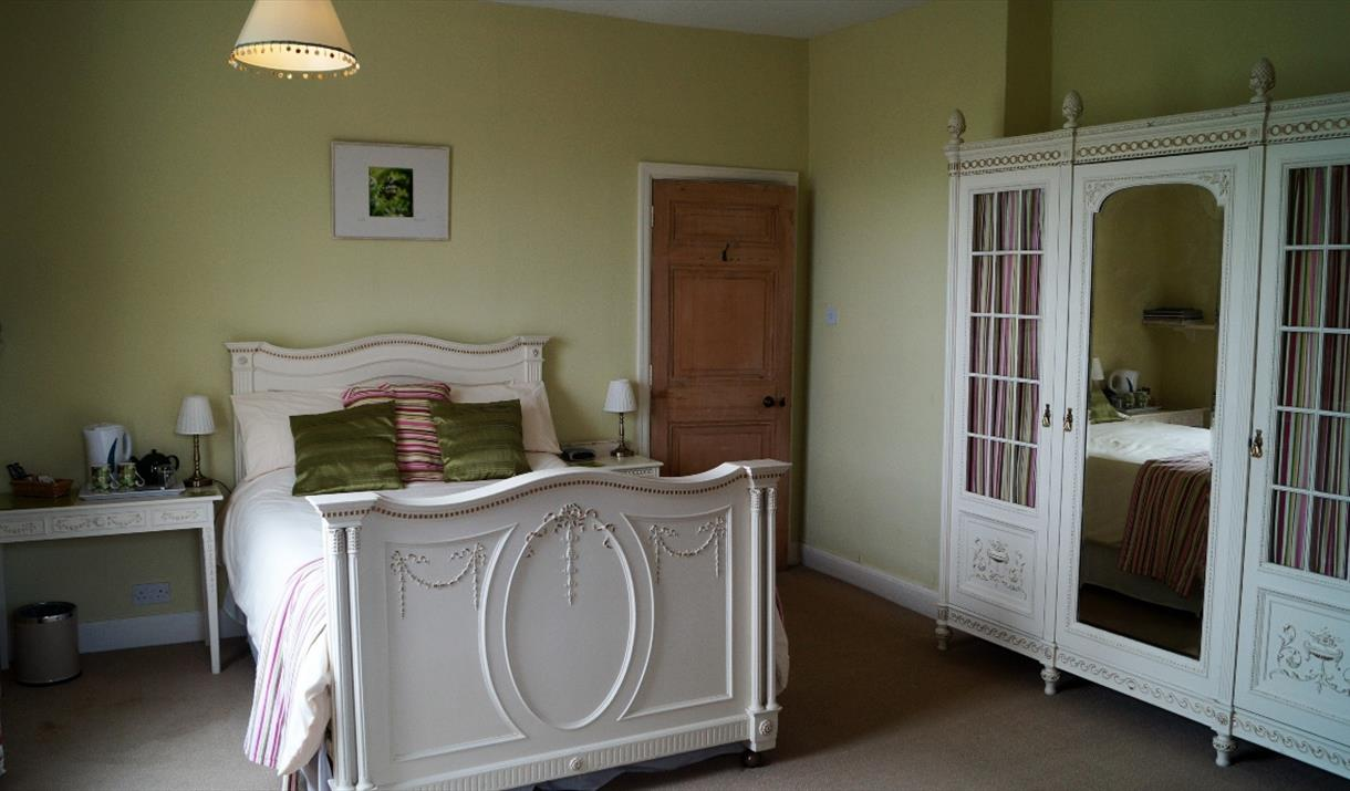 A double bedroom at Life Hill Farm Cottage in East Yorkshire.