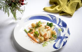 An image of a fish dish served at tickton grange.