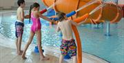 Children playing at East Riding Leisure, Bridlington in East Yorkshire.